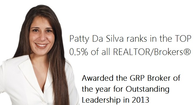 Patty Da Silva Award Winning Listing Broker