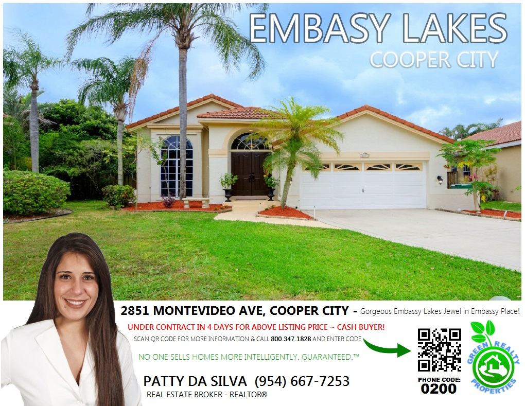 Embassy Lakes - Cooper City - Patty Da Silva BROKER - REALTOR