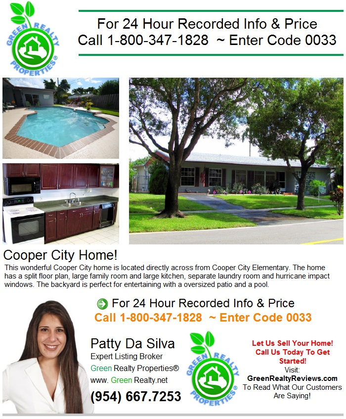 9160 SW 51 ST, Cooper City FL 33328 - FLYER BOX