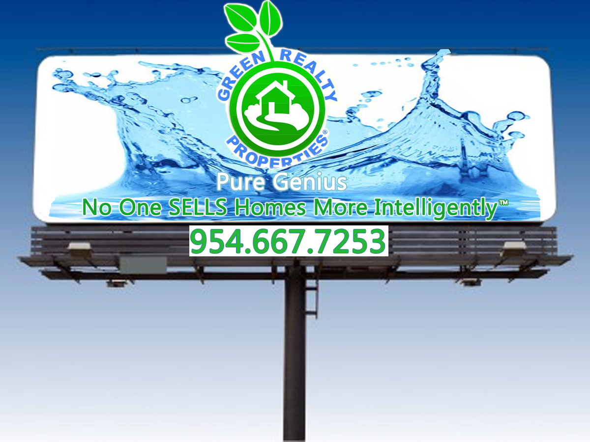 Green Realty Billboard Advertising Broward County Homes For Sale