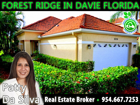 Forest Ridge Davie Florida Listing Broker - Patty Da Silva