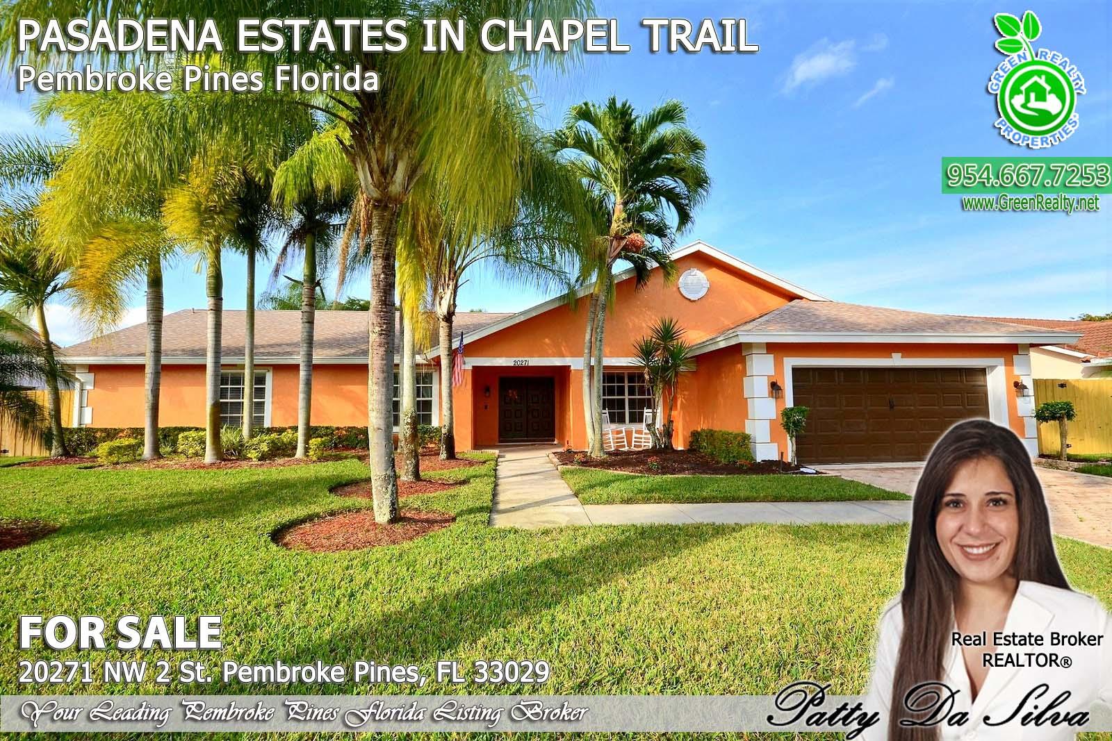 Pasadena Estates of Chapel Trail - Pembroke Pines FL Listing Agent