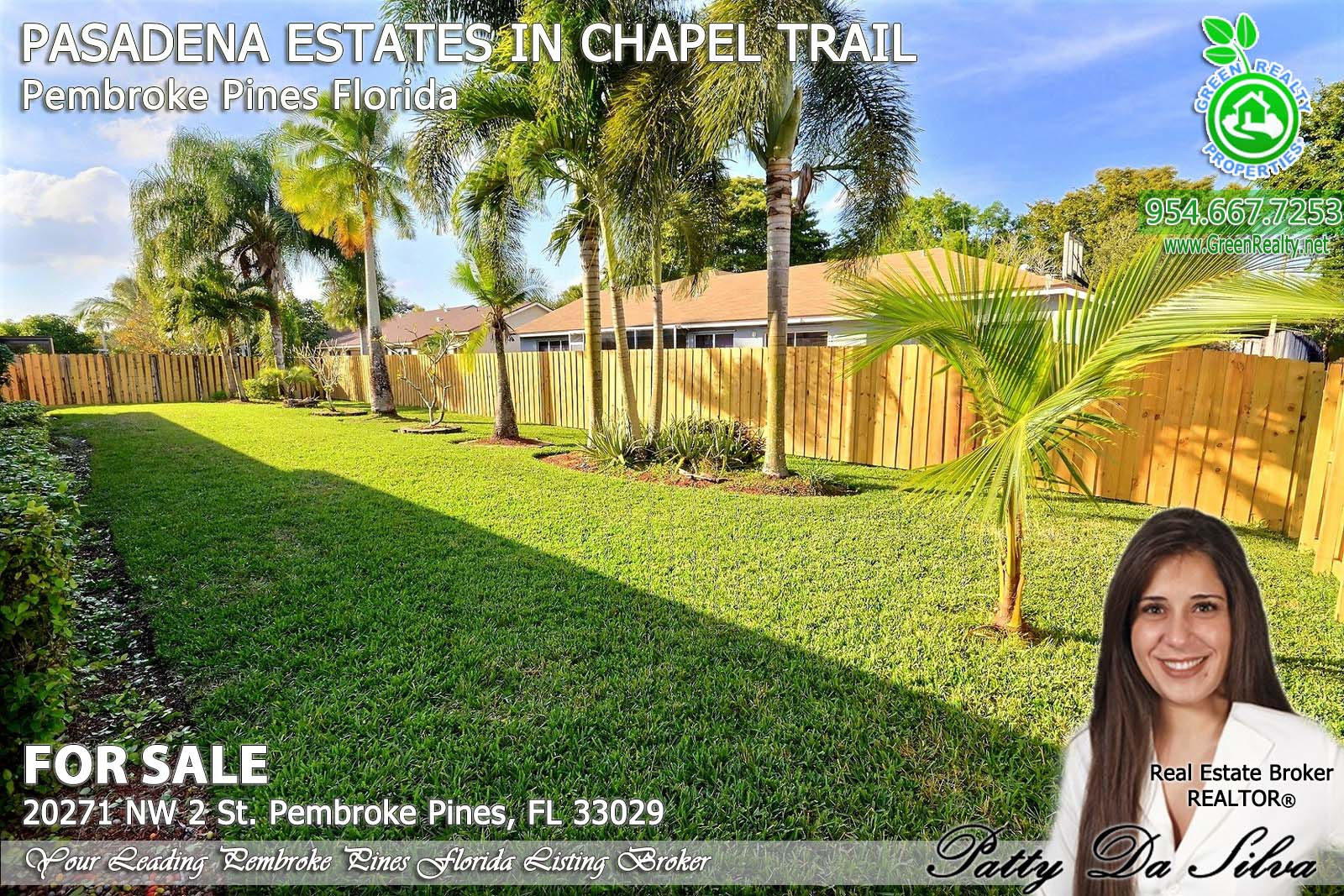 Pasadena Estates of Chapel Trail - Pembroke Pines FL realtor