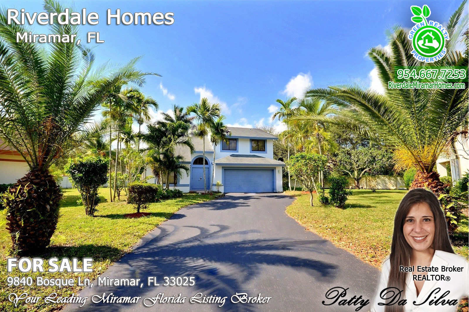 Riverdale-Miramar-listing-broker-Patty-Da-Silva-green-realty-properties