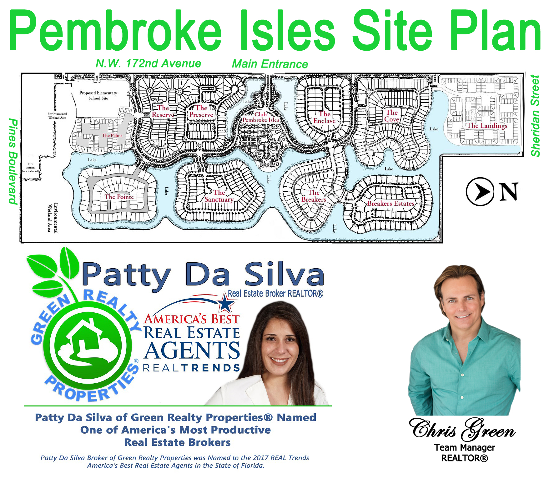 Pembroke Isles Site Plan, Pembroke Isles Realtors, Patty Da Silva Broker, Pembroke Isles Homes For Sale