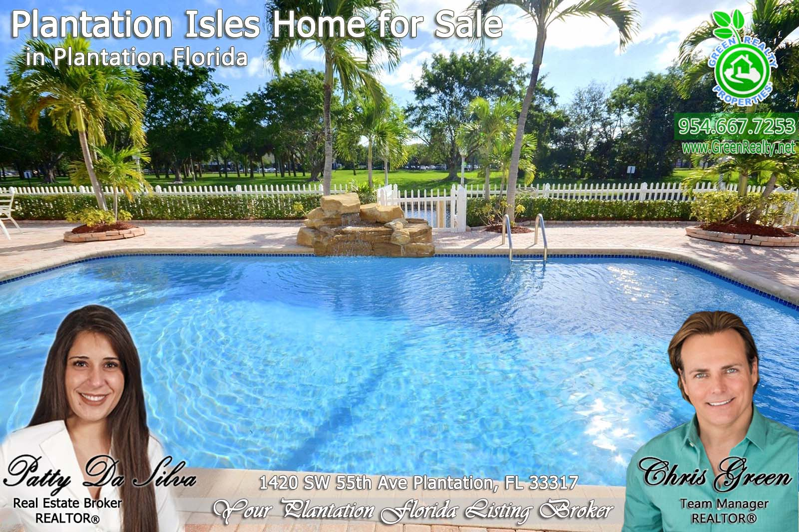 1 Plantation Florida pool Homes For Sale