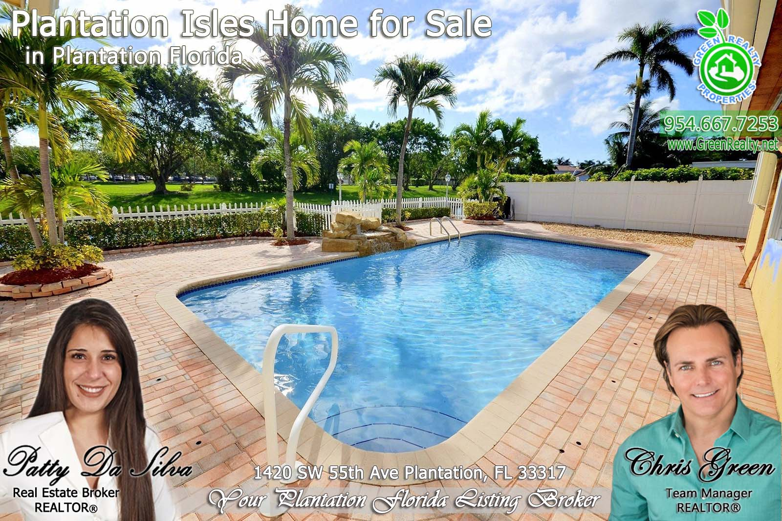 22 Plantation Florida Real Estate properties with pool