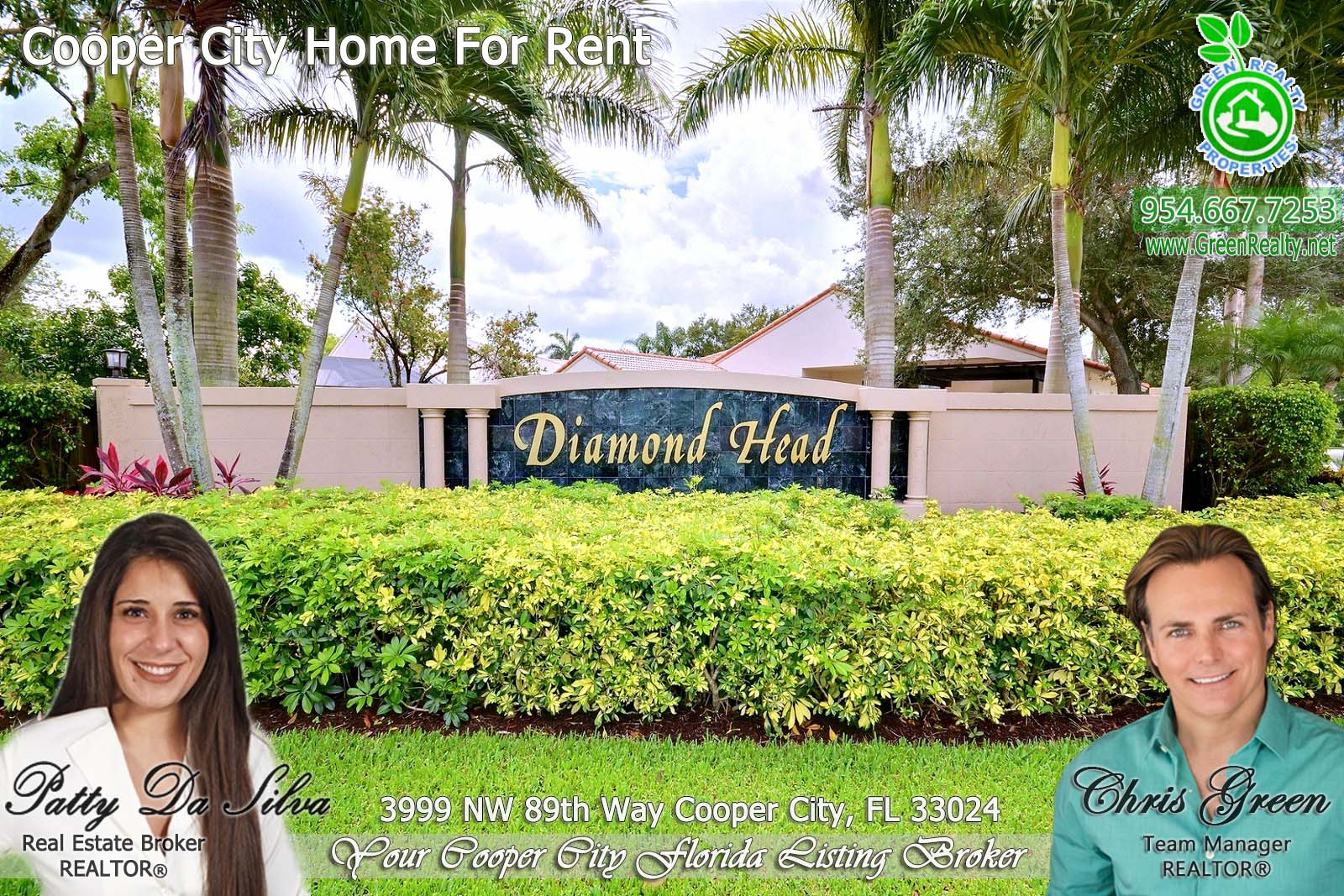 51 Diamond Head Cooper City Community Sign
